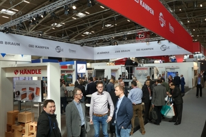 """<div class=""""bildtext""""><span class=""""textmarkierung"""">» </span>Händle exhibited its products and services with its partners ZMB Braun, Kampen, Steele and Direxa  </div>"""