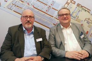 """<div class=""""bildtext""""><span class=""""bildnummer"""">»1</span> CEO Uwe Hartmann (left) and COO Stefan Reichert during their interview with Zi</div>"""
