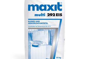 "<div class=""bildtext""><span class=""bildnummer"">»3</span> The adhesive reinforcing mortar ""maxit multi 292 EIS"" <br />is particularly suitable for use during the transition seasons</div>"