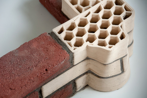 "<div class=""bildtext""><span class=""bildnummer"">»2</span> ""Printed"" Unipor clay masonry units are made-to-order articles with geometries designed for performing certain functions in building construction</div>"