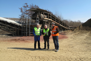 "<div class=""bildtext""><span class=""textmarkierung"">»</span> Energy saving already starts in the clay pit</div>"