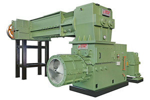 """<div class=""""bildtext""""><span class=""""bildnummer"""">» 5</span> Extrusion unit with MIX710D de-airing mixer, which is positioned on top of the Tecno 750M-D extruder</div>"""