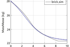 "<div class=""bildtext""><span class=""bildnummer"">»6</span> Comparison of the measured brick mass with the simulated result</div>"
