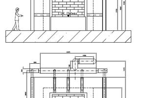 "<div class=""bildtext""><span class=""bildnummer"">»2</span> Cross-sectional views of the tunnel kiln showing recirculation ductwork in different planes</div>"