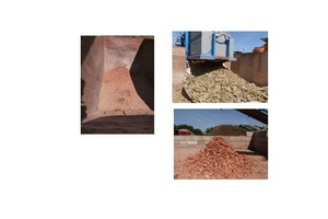 """<div class=""""bildtext""""><span class=""""bildnummer"""">»12</span> Large-scale test: prescreened material, separated mineral wool pads, brick particles</div>"""