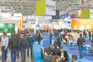 """<div class=""""bildtext""""><span class=""""bildnummer"""">»</span> 270 exhibitors and around 10000 visitors came to visit the first digitalBAU on the exhibition grounds in Cologne</div>"""
