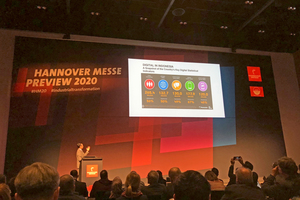 """<div class=""""bildtext""""><span class=""""bildnummer"""">»2</span> H.E. Arif Havas Oegroseno, Ambassador of the Republic of Indonesia to the Federal Republic of Germany, presents Indonesia as the Partner Country of the Hannover Messe 2020</div>"""