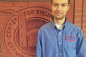 """<div class=""""bildtext_en""""><span class=""""bildnummer"""">» </span>Nate Huygen is a research associate for the National Brick Research Center. He received his Ph.D. in Materials Science and Engineer from Clemson University in December 2020. His research focuses on the thermal performance of wall systems with thermal mass.</div>"""
