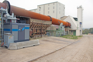 """<div class=""""bildtext_en""""><span class=""""bildnummer"""">» </span>Rotary kiln with ORC system by Orcan Energy</div>"""