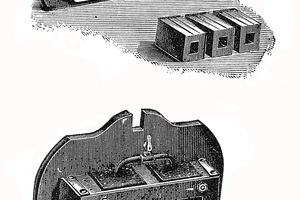 """<div class=""""bildtext_en""""><span class=""""bildnummer"""">» </span>Dies for facing bricks made by the Nienburg iron foundry and machine factory for the manufacture of 1/4 and 1/2 facing bricks, Bock, 1901. </div>"""