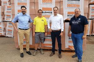"""<div class=""""bildtext_en""""><span class=""""bildnummer"""">» </span>Management of Schmid brick company: Matthias Hörl, Karl Thomas Schmid, Michael Hörl, Martin Schmid (left to right)</div>"""