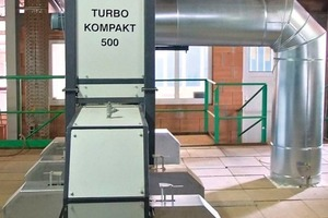 "<span class=""bildunterschrift_hervorgehoben"">»6a and b</span> The Turbo Kompakt 500 can be fitted to the kiln ceiling in a very short time"