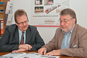 "<span class=""bildunterschrift_hervorgehoben"">»1</span> Keratek's founder Karl-Heinz- Brakemeier (right) and his successor Christian Gäbelein"