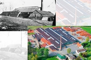 &gt;&gt;1 Undated historical photo of the Creaton parent plant in Wertingen and an aerial photo following the latest modernization in 2008<br />