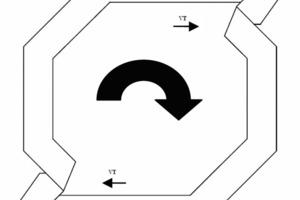 "<span class=""bildunterschrift_hervorgehoben"">»4</span> Section through the cone fan with medium to high air speed<br />"