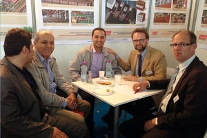 """<span class=""""bildunterschrift_hervorgehoben"""">»3</span> The Algerian market is now changing into a market where the quality of the building materials is becoming more and more important said Frank Appel, associate at Lingl (second from right)"""
