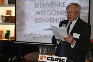 "<span class=""bildunterschrift_hervorgehoben"">»1</span> Jean Merienne, co-founder of Ceric, retraced the company's history"