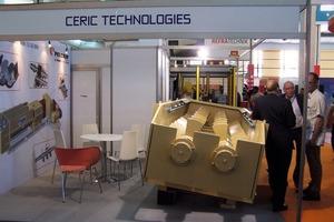 "<span class=""bildunterschrift_hervorgehoben"">»5</span> Pelerin MM 12-35 ERN horizontal moistener mixer exhibited on the stand of Ceric Technologies"