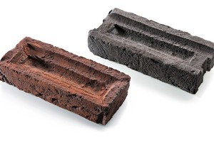 """<span class=""""bildunterschrift_hervorgehoben"""">»3</span> These bricks, with their expressive simulated soft-mud faces, can be produced in object-specific sizes, shapes and sortings"""