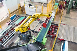 """<span class=""""bildunterschrift_hervorgehoben"""">»</span> Sabo modernized the production line for handling wet, pressed products at Wienerberger's Solymar plant in Hungary"""