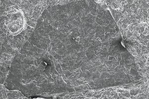 "<span class=""bildunterschrift_hervorgehoben"">»12</span> Scanning electron image of a silica grain at 60-fold magnification"