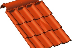 ››5 Schematic of a roof tile with several accessory tiles