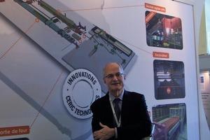 "<span class=""bildunterschrift_hervorgehoben"">»4</span> Patrick Hebrard, President of Ceric Technologies in front of the presentation of the Branis brickworks"