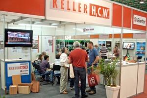 "<span class=""bildunterschrift_hervorgehoben"">»</span> The Keller Division trade fair stand attracted lots of visitors<br />"