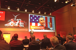 """<div class=""""bildtext_en""""><span class=""""bildnummer"""">»</span> """"And the fact that President Obama will be jointly opening the show with Chancellor Merkel makes a strong statement on the pivotal importance of Hannover Messe as a global stage"""", remarked Dr. Jochen Köckler</div>"""