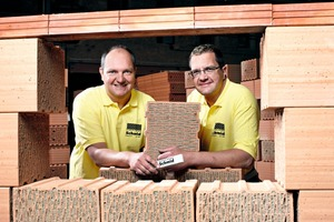 """<div class=""""bildtext_en""""><strong>» </strong>Since 1999, the two brothers Karl Thomas and Martin Schmid have been co-managing the tradition-steeped company Ziegelwerk Schmid </div>"""