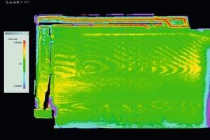 "<span class=""bildunterschrift_hervorgehoben"">»1</span> Variance comparison between an engineered target model of good items and the data from the inspected roof tile<br />"