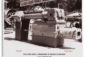 "<div class=""bildtext""><span class=""textmarkierung"">»2</span> Verdés-Extruder auf einer Messe 1960 in Barcelona</div>"