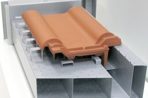 """<span class=""""bildunterschrift_hervorgehoben"""">»27</span> Cutaway view of a drying support for accessory tiles, with different sections in the air duct<br />"""