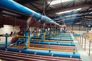 "<span class=""bildunterschrift_hervorgehoben"">»1</span> Installation of the gas impulse nozzles in the second kiln<br />"