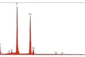 """<span class=""""bildunterschrift_hervorgehoben"""">»10</span> EDX spectrum of the particle"""
