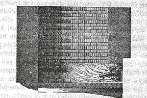 """<span class=""""bildunterschrift_hervorgehoben"""">»2</span> Graphic explanation of the firing process in an old German kiln by A. Türrschmiedt, 1859<br />(from """"Über Ziegelfabrikation mit besonderer Rücksicht auf die Anfertigung von Mauersteinen nach der flamländischen Methode vor dem Rosenthaler Thore bei Berlin"""", pages 15-16)<br />"""