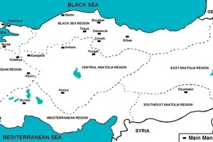 """<span class=""""bildunterschrift_hervorgehoben"""">»1</span> Map of Turkey with the most important production centres for clay bricks and roofing tiles [2]"""