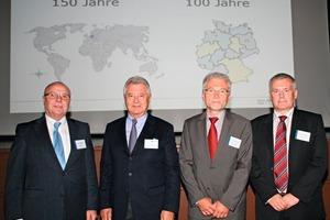"<span class=""bildunterschrift_hervorgehoben"">»1</span> Werner Griebe, DKG Board Chairman; Paul Eirich, Managing Partner at Eirich; Prof. Dr.-Ing.Gernot Klein, Koblenz University, WesterWaldCampus and Dr.-Ing.Detlev Nicklas, DKGGeneral Secretary, were delighted with the success of the event"