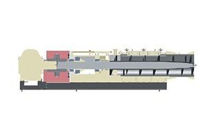 """<span class=""""bildunterschrift_hervorgehoben"""">»2</span> Cross-sectional view of the new 730 ER – MRP 12.25 extruder"""