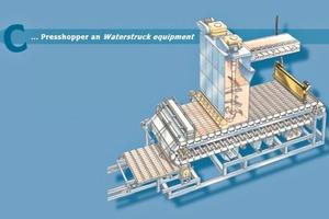 "<span class=""bildunterschrift_hervorgehoben"">»5c</span> Mould chain with press hopper and water-struck apparatus<br />"