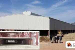 >> Guerrouache group's brick plant for Argibordj, Algeria with the Zephyr dryer under construction