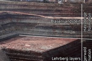 """<div class=""""bildtext"""">&gt;&gt;8 K4 Sequence in marginal facies: Lehrberg beds as a company-owned basic component of a well-known brickworks in Central Franconia/Southern German Block</div>"""