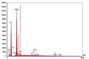 "<span class=""bildunterschrift_hervorgehoben"">»22</span> EDX spectrum of the surface efflorescence"