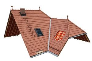 """<span class=""""bildunterschrift_hervorgehoben"""">»1</span> Dächer sind heute mit ihren vielfältigen Funktionen hoch komplizierte Bauteile. Wienerberger unterstützt das Handwerk mit kompletten Dachlösungen<br />"""