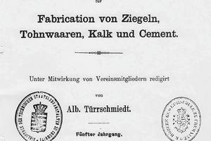 """<span class=""""bildunterschrift_hervorgehoben"""">»4</span> Cover sheet of Notizblatt des Deutschen Vereins für Fabrication von Ziegeln, Thonwaaren, Kalk und Cement , Vol. five, 1869<br />"""