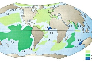 "<span class=""bildunterschrift_hervorgehoben"">»2</span> Global clay mineral distribution in oceanic sediments (from: [3]) <br />"