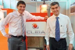 "<span class=""bildunterschrift_hervorgehoben"">»3</span> Eric Girardot, Area Sales Manager, (left) and Philippe Penillard, President, Cleia, France, presented their new company<br />"