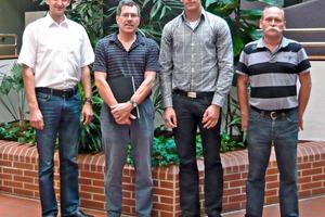 "<span class=""bildunterschrift_hervorgehoben"">»</span> Dipl.-Ing. Rainer Hüsing, Keller HCW; Prof. Dr Ralf Gunther Schmidt; Roman Flatau and Dipl.-Ing. Heiner Gausmann, Keller HCW (from left toright)<br />"