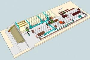 "<span class=""bildunterschrift_hervorgehoben"">»</span> 3-D layout of the new brickworks"