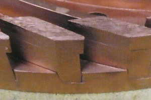 "<span class=""bildunterschrift_hervorgehoben"">»4</span> Different segment shapes of cup grinding wheels"